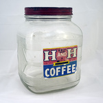 H and H Coffee Square Jar