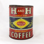 H and H Coffee Family Size Tin