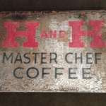 Master Chef Sign from shed wall